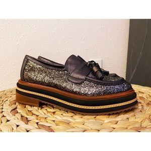 NWOT Shellys London Platform Loafers
